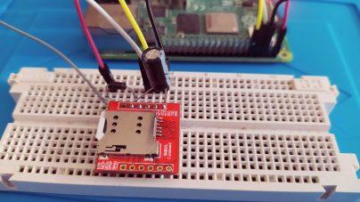 Raspberry Pi connecté à un SIM800L